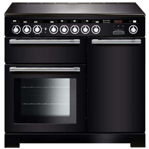 Rangemaster EDLC100EIBL/C Encore Deluxe 100 cm Induction Range Cooker in Black