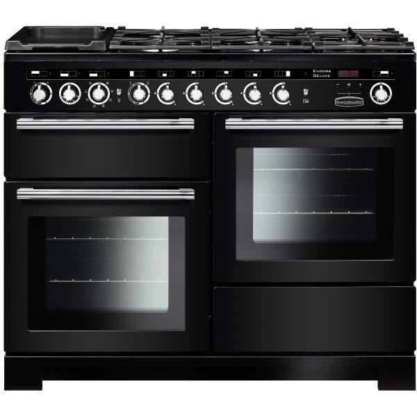 Rangemaster EDL110DFFBL/C Encore Deluxe 100 cm Dual Fuel Range Cooker in Black