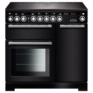 Rangemaster EDLC90EIBL/C Encore Deluxe 90 cm Induction Range Cooker in Black
