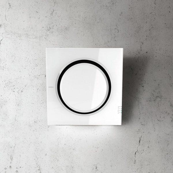 Elica MINI-IO-WHITE Glass Wall Mounted Hood