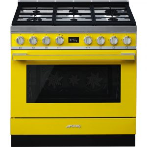Smeg CPF9GPYW 90cm Portofino Dual Fuel Range Cooker Yellow
