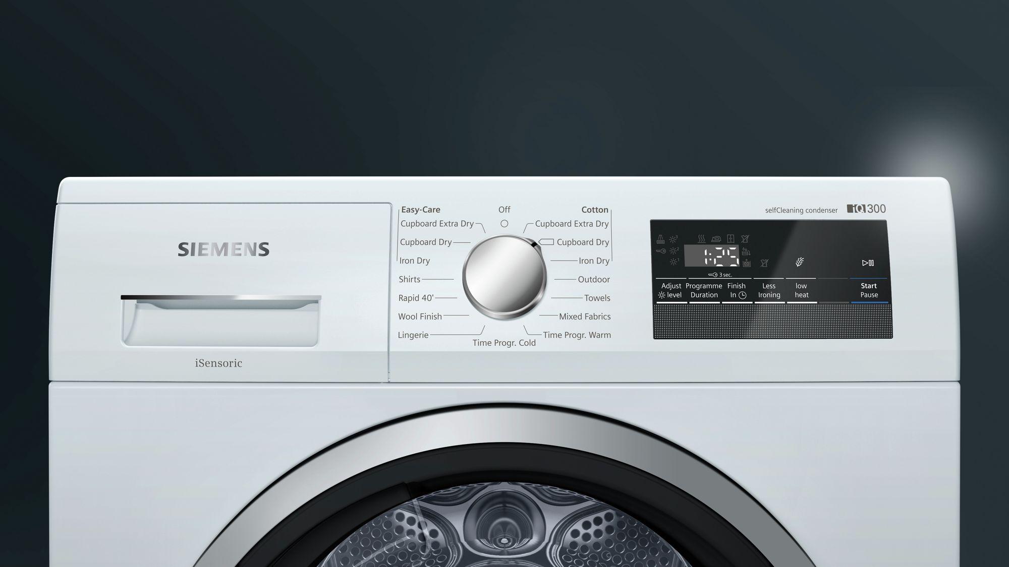 Siemens Iq300 Condenser Tumble Dryer With Heat Pump Wt45m232gb