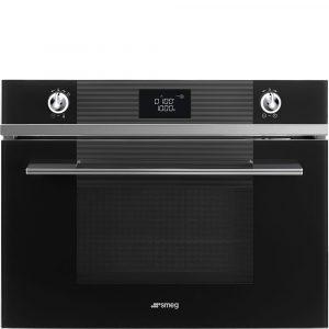 Smeg SF4102MCN 45cm Linea Compact Combination Microwave Oven