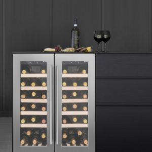 Caple Wi6232 CLASSIC Undercounter Dual Zone Wine Cabinet