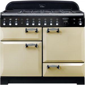 Rangemaster ELA110DFFCR/ Elan Deluxe 110cm Dual Fuel Cream Range Cooker