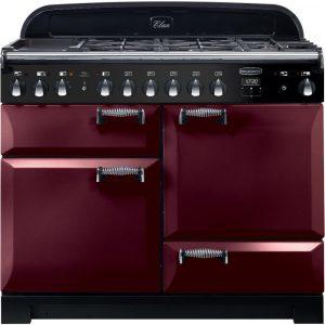 Rangemaster ELA110DFFCY/ Elan Deluxe 110cm Dual Fuel Cranberry Range Cooker