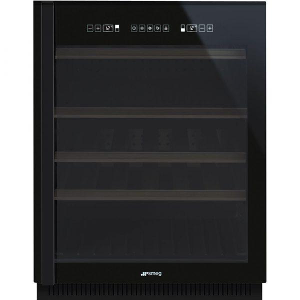 Smeg CVI638N 60cm Dolce Stil Novo Dual-Zone Wine Storage Unit in Black Glass – Ex Display