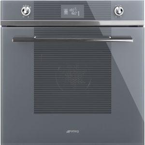 Smeg SF6102TVSG 60cm Linea Aesthetic Silver Glass Oven