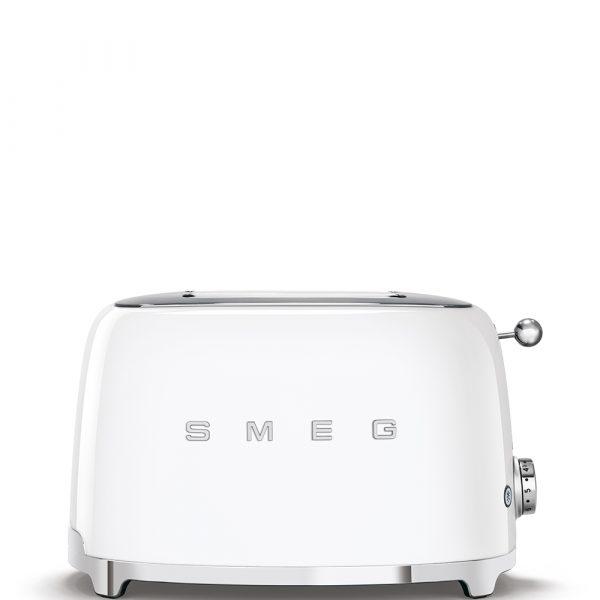 Smeg TSF01WHUK 50s Retro Style 2 Slice Toaster in White - Stock Clearance