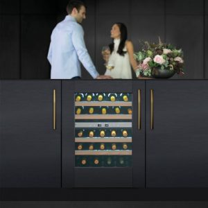 Caple Wi6160 Integrated Undercounter Dual Zone Wine Cabinet