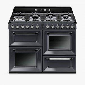 Smeg TR4110GR Slate Grey Victoria Traditional 110cm Dual Fuel Range Cooker
