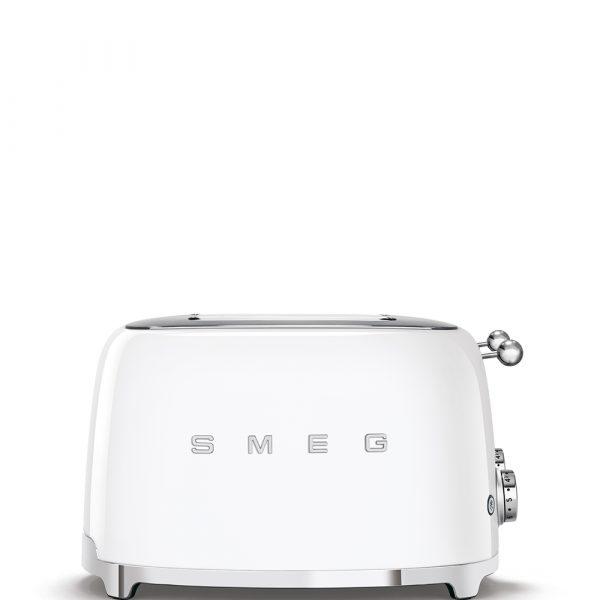 Smeg TSF03WHUK 50's Retro Style White 4 Slice Toaster