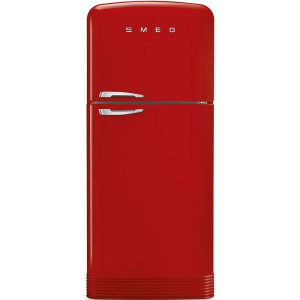 Smeg FAB50RRD 50s Style No Frost Red Fridge-freezer, Right hand hinge