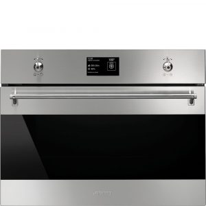 Smeg SF4390VCX1 60cm Classic Compact Combination Steam Oven, Stainless Steel & Eclipse glass