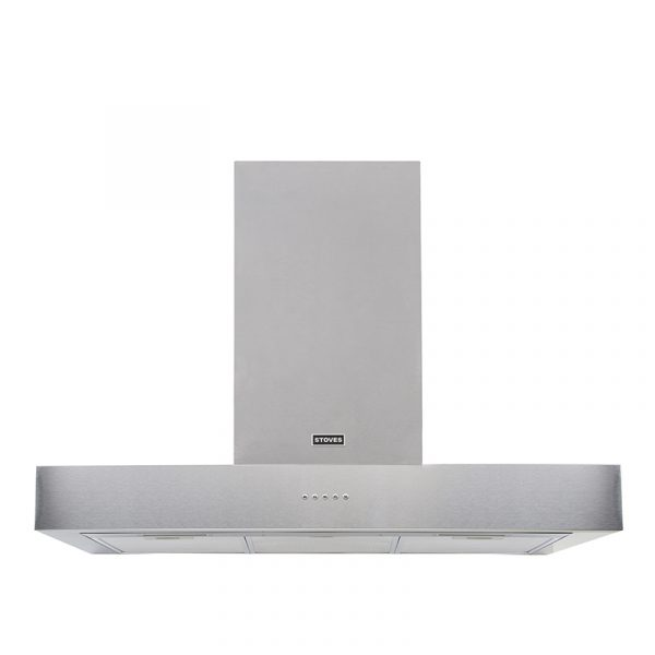 Stoves Sterling Flat 900 444410236 90cm Stainless Steel Flat Extractor Hood