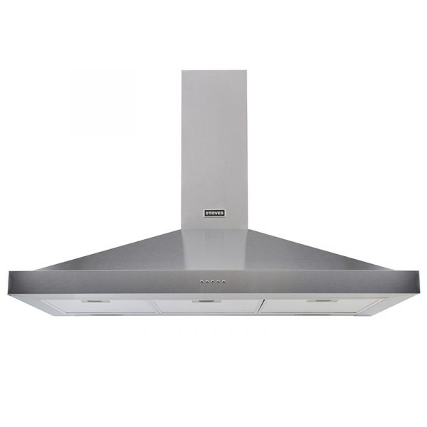 Stoves Sterling Chimney 1100 444410242 110cm Stainless Steel Chimney Extractor Hood