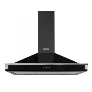 Stoves Richmond Chimney and Rail 900 444410243 90cm Black Chimney and Rail Extractor Hood