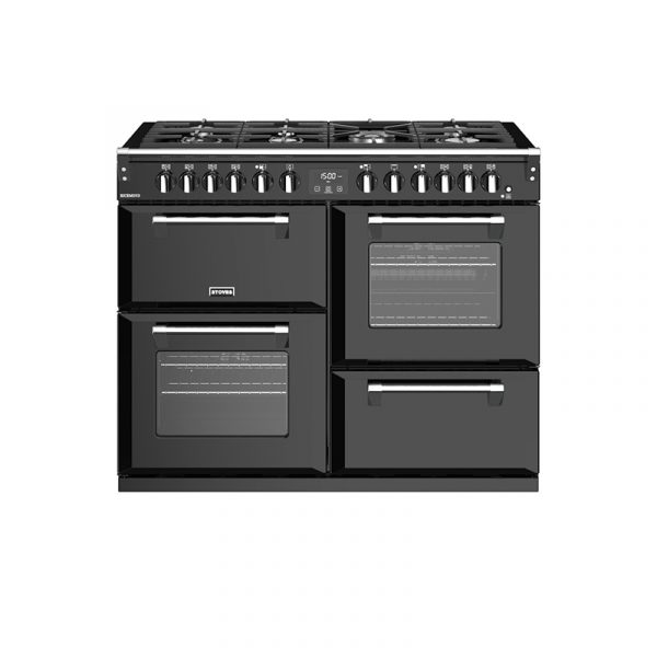 Stoves Richmond S1100DF 444444466 110cm Black Dual Fuel Range Cooker