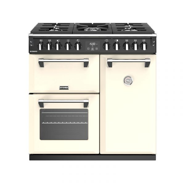 Stoves Richmond S900DF 444444436 90cm Classic Cream Dual Fuel Range Cooker