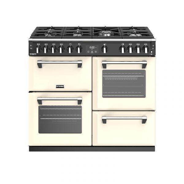 Stoves Richmond Deluxe S1000G 444444914 100cm Classic Cream Gas Range Cooker