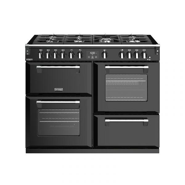 Stoves Richmond Deluxe S1100G 444444923 110cm Black Gas Range Cooker