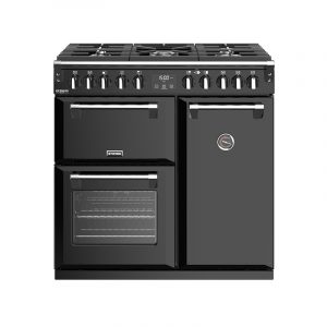 Stoves Richmond Deluxe S900DF 444444897 90cm Black Dual Fuel Range Cooker