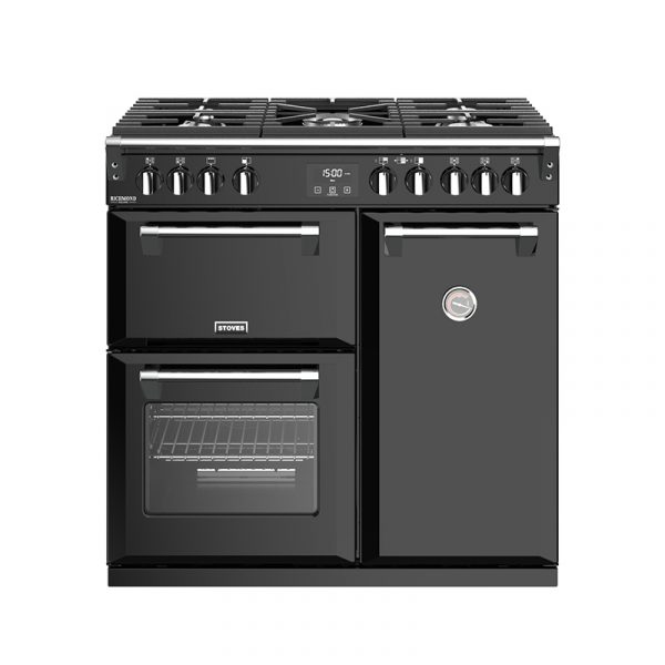 Stoves Richmond Deluxe S900G 444444903 90cm Black Gas Range Cooker