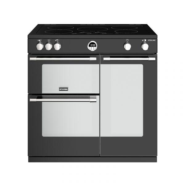 Stoves Sterling S900EI 444444487 90cm Black Induction Range Cooker