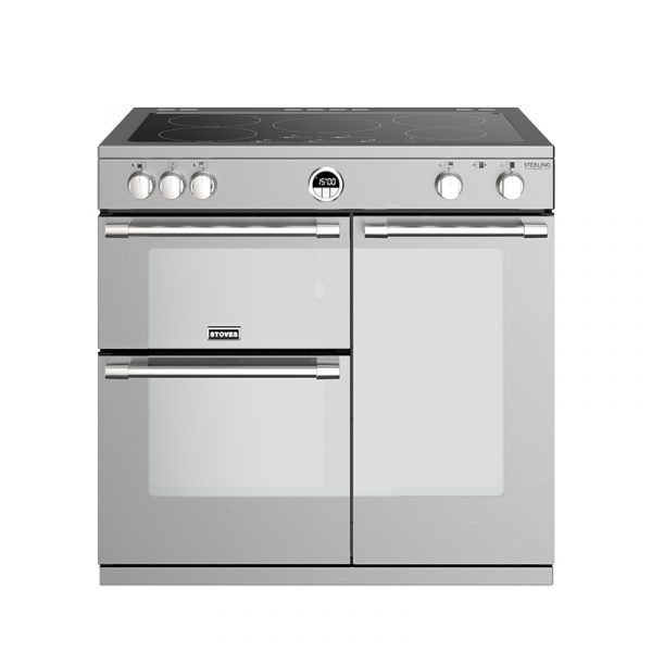 Stoves Sterling Deluxe S900EI 444444940 90cm Stainless Steel Induction Range Cooker