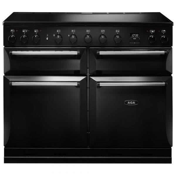 AGA MDX110EIBLK Masterchef Deluxe Induction Range Cooker Black 110cm