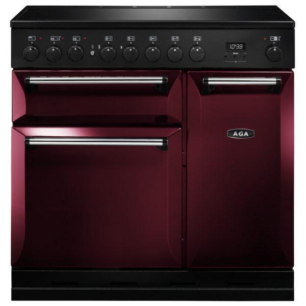 AGA MDX90EICBY Masterchef Deluxe Induction Range Cooker Cranberry 90cm