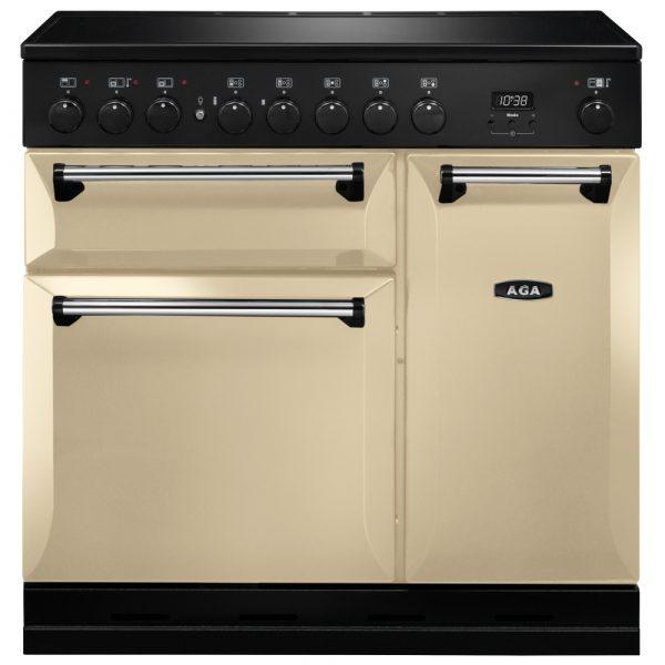 AGA MDX90EICRM Masterchef Deluxe Induction Range Cooker Cream 90cm