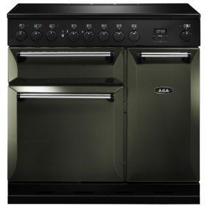 AGA MDX90EIPWT Masterchef Deluxe Induction Range Cooker Pewter 90cm