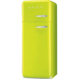 Smeg FAB30LLI3 50s Retro Lime Fridge Freezer Left Hand Hinge