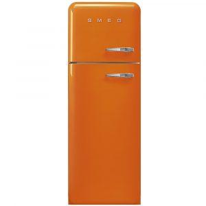 Smeg FAB30LOR3 50s Retro Orange Fridge Freezer Left Hand Hinge
