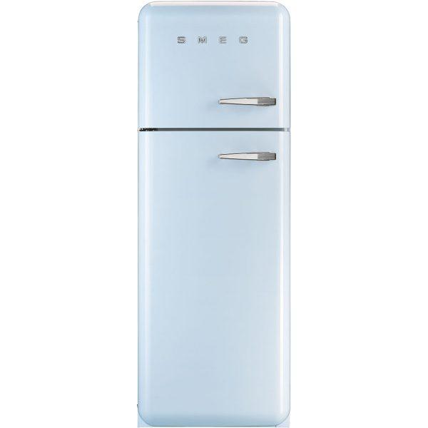 Smeg FAB30LPB3UK 50s Retro Pastel Blue Fridge Freezer Left Hand Hinge