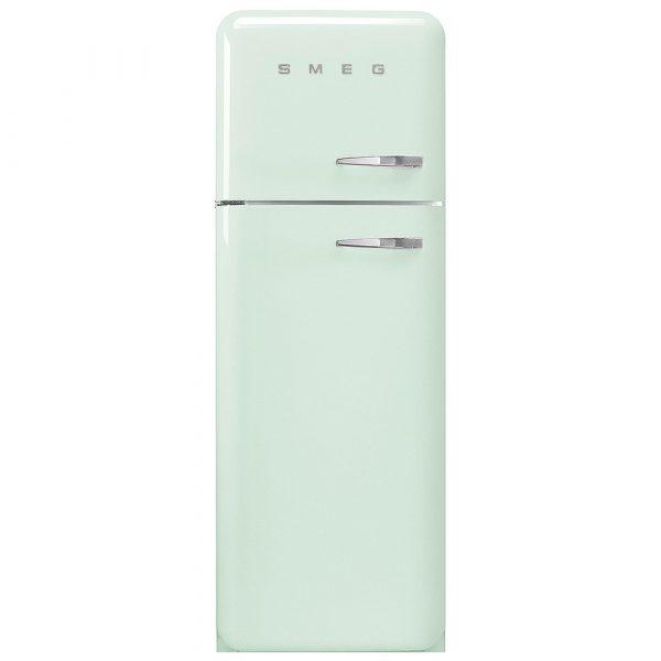 Smeg FAB30LPG3UK 50s Retro Pastel Green Fridge Freezer Left Hand Hinge