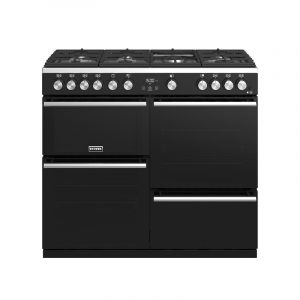 Stoves Precision Deluxe S1000G 444410763 100cm Gas Black Range Cooker