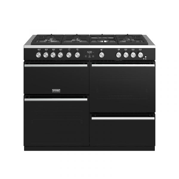 Stoves Precision Deluxe S1100G 444410765 110cm Gas Black Range Cooker