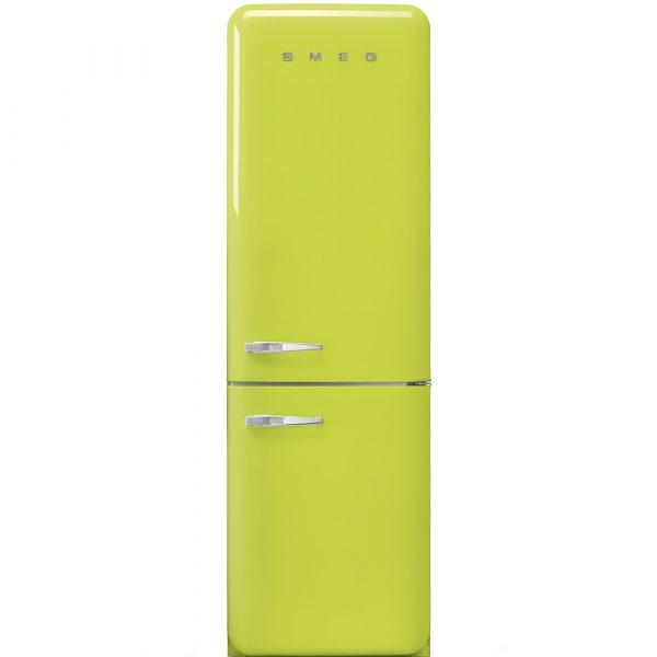 Smeg FAB32RLI3 50's Retro Style 'No Frost' Fridge-freezer Lime Green, Right hand hinge Energy efficiency class A+++