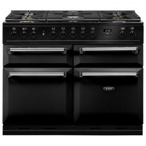 AGA MDX110DFBLK Masterchef Deluxe Dual Fuel Range Cooker Black 110cm
