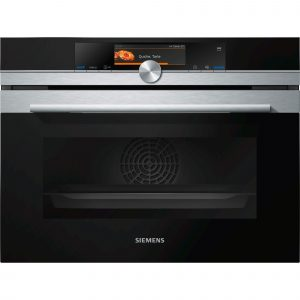 Siemens CS658GRS6B iQ700 Built-in stainless steel compact oven with steam function