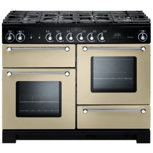 Rangemaster KCH110NGFCR/C Kitchener 110cm Gas Range Cooker – Cream