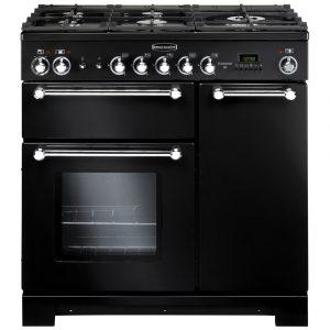 Rangemaster KCH90NGFBL/C Kitchener 90cm Gas Range Cooker – Black