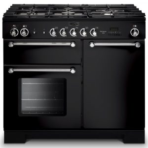 Rangemaster KCH100NGFBL/C Kitchener 100cm Gas Range Cooker – Black