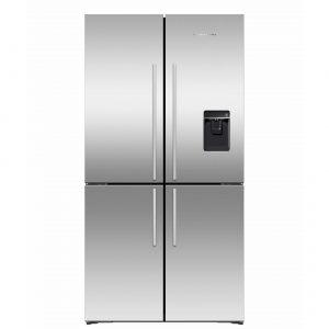 Fisher & Paykel RF605QDUVX1 Quad Door Fridge Freezer, 905mm, 605L, Ice & Water