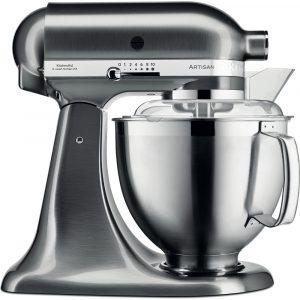 KitchenAid 5KSM185PSBNK Artisan 4.8 Litre Stand Mixer – Brushed Nickle