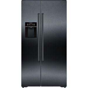 Siemens KA92DHXFP iQ700 American side by side Black stainless steel fridge freezer
