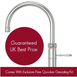 Quooker 2.2CFRRVS COMBI 2.2 Classic Fusion Round Tap – Stainless Steel With COMBI Tank
