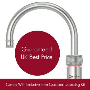 Quooker 2.2CNRRVS COMBI 2.2 Classic Nordic Round Single Tap – Stainless Steel With COMBI Tank